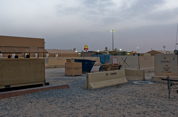McDonald's is one of the few comforts at Ali Al Salem Air Force Base in Kuwait, a primary hub for U.S. soldiers and contractors transiting to and from Iraq and Afghanistan.