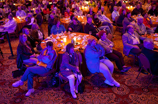 Partiers attend the Nashville convention.
