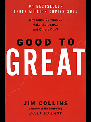 Image result for Good to Great: Why Some Companies Make the Leap…and Others Don't. Jim Collins, 2001