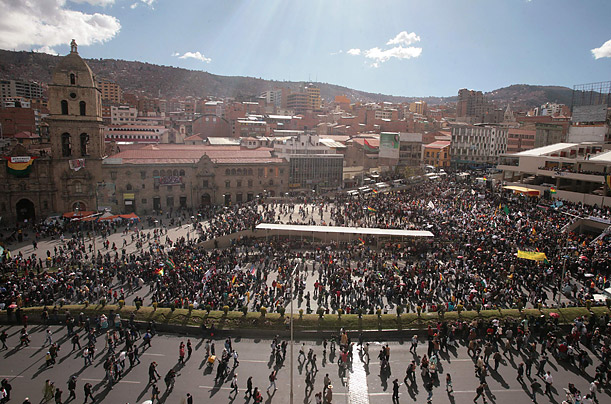 Bolivia's Indigenous Protesters March To The Capital