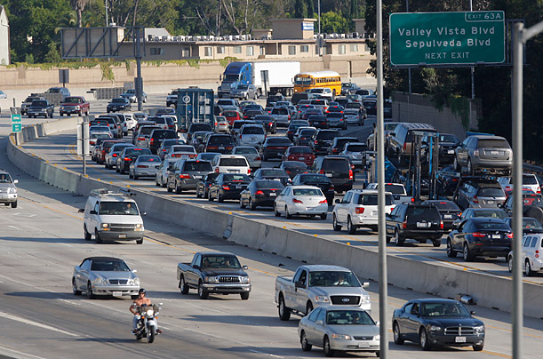 Carmageddon on the 405 in Los Angeles