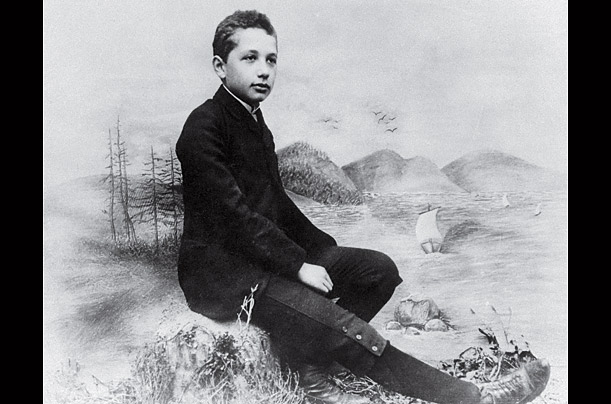 This photo was taken in a Munich photo studio c. 1893, shortly before Einstein left high school to join his family in Italy.