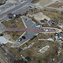 Sendai, Japan, Nov. 18, 2011Tsunami damage is seen on the outline of an aircraft next to Sendai airport, in Sendai, northeast Japan, Friday, Nov. 18, 2011.