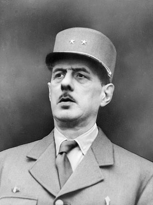 Charles de Gaulle in his French military uniform