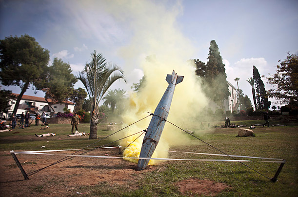 An Israeli Missile Drill The country's military and rescue services prepare for mass casualties from a chemical weapons attack
