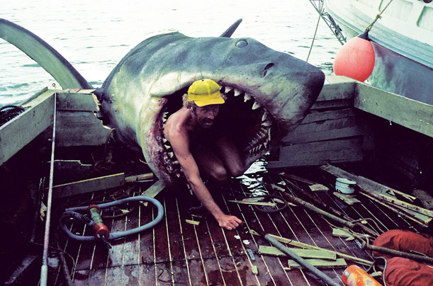 Special-effects operative Cal Acord takes a closer look at Amity Island's shark problem.