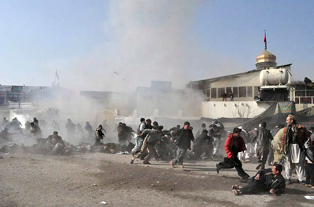 Scores Killed in Attacks on Afghan Shi'ites Bomb blasts kill nearly 60 Ashura Worshipers afghanistan, kabul