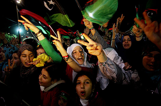 Libya Celebrates the Fall of Gaddafi