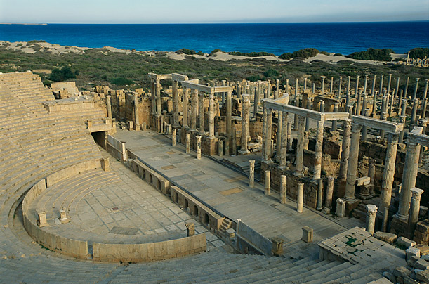This prominent coastal city of the Roman empire is a UNESCO heritage site. On June 14, 2011, NATO declined to say whether or not it would strike the site if it knew that military equipment had been placed there.