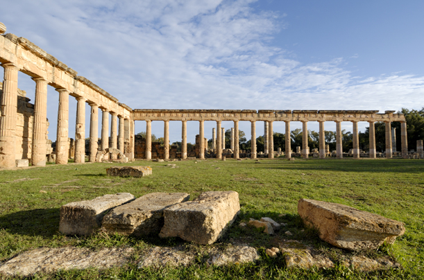 The ruins of a gymnasium and forum of a city founded by the Greeks and later incorporated into the Roman empire. It too is a UNESCO heritage site.