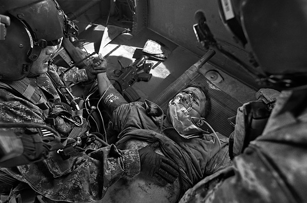 James Nachtwey Photos: A Medevac Unit in Afghanistan