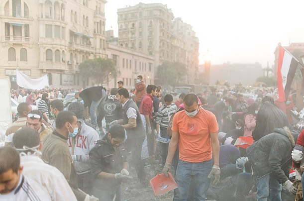 In the days after the resignation, many came to Tahrir Square to clean and repaint it.