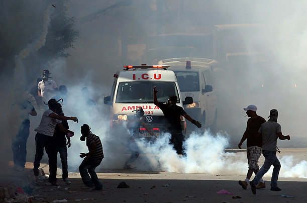 Palestinians and Israelis clash on the Anniversary of the 1967 Middle East War