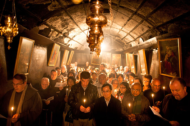 Pilgrims Visit the Church of the Nativity The faithful and tourists pay their respects at the spot believed to be the birthplace of Jesus