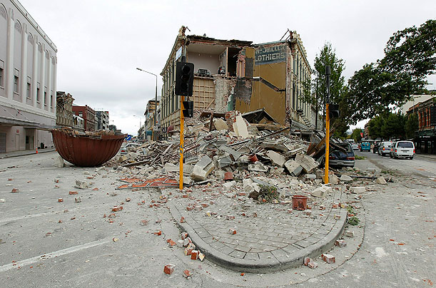 Earthquake Strikes Christchurch, New Zealand