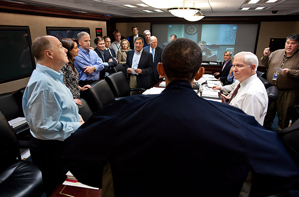 President Obama Monitors the bin Laden Mission