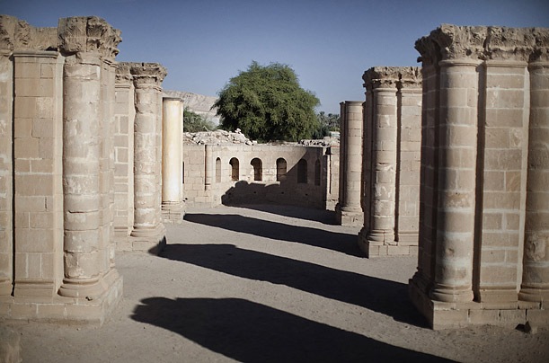 The main hall at the archaeological site of Hisham Palace in the West Bank city of Jericho on December 2, 2010.