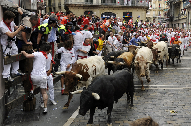 Spain, Running of the Bulls, Pamplona