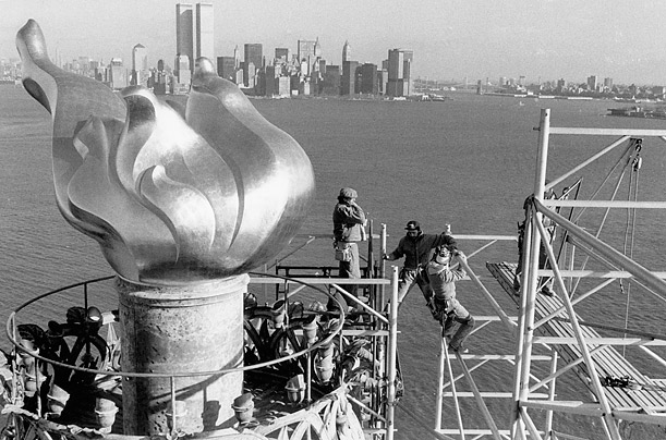 The Statue of Liberty Closes for Renovations