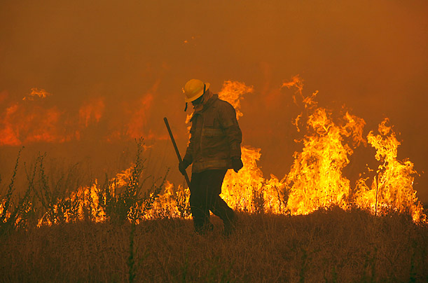 Wildfire Burns Across Central Texas
