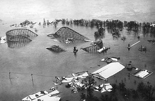 Image result for ohio river meets mississippi 1937 flood