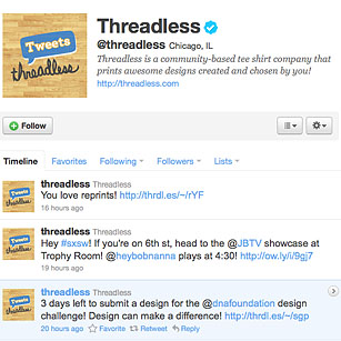 Threadless Feed