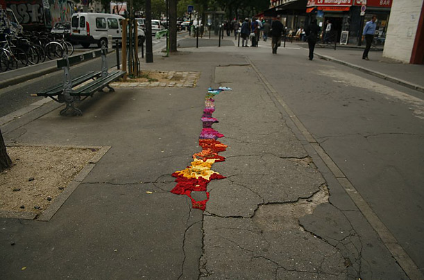 Step aside graffiti artists. Yarn bombers take their craft to the streets, stitching cozies for everything from bike racks to entire buses