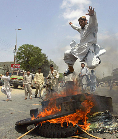 Demonstrations in Karachi, Pakistan