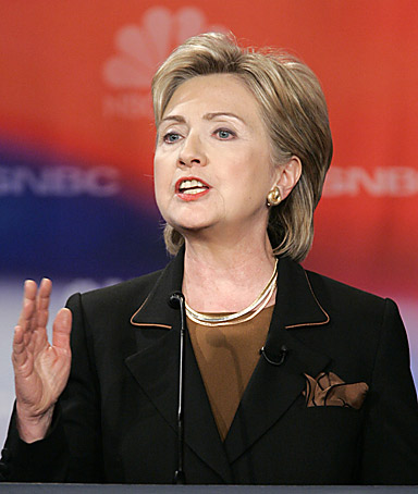 Democratic presidential hopeful Sen. Hillary Rodham Clinton