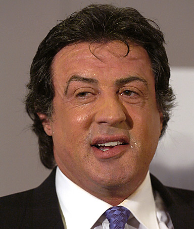 US actor Sylvester Stallone rambo
