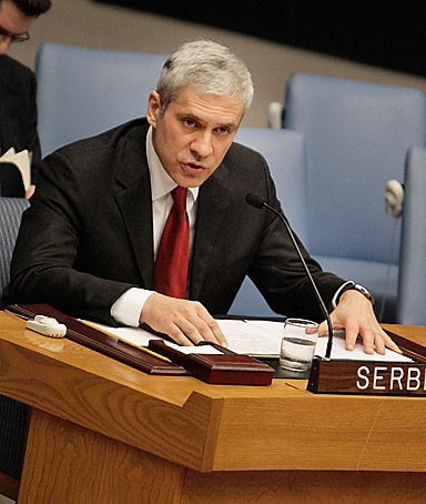BORIS TADIC Serbian president, insisting that his country would not cut itself off from the rest of Europe amid rising anti-Western sentiment Serbs protested Kosovo independence set fire to the U.S. embassy in Belgrade