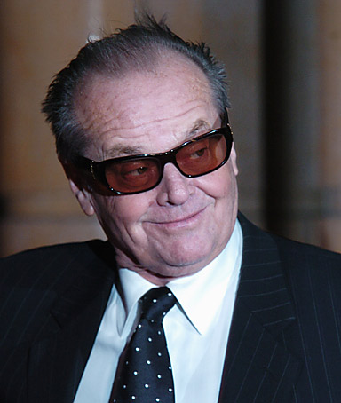 Actor JACK NICHOLSON after he used clips from his films to put together an Internet video endorsing Democratic presidential candidate Hillary Clinton
