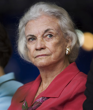 Retired Supreme Court justice Sandra Day OConnor