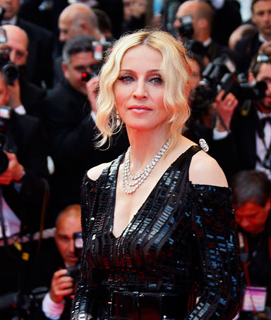 Singer Madonna arrives on the red carpet before the screening of 