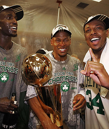 Ray Allen after the Boston Celtics won their 17th NBA championship