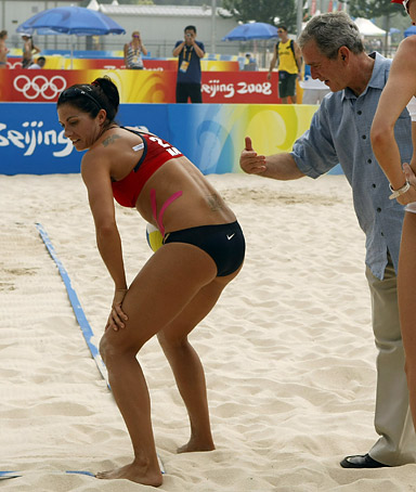 president george w bush olympics volleball misty may treanor
