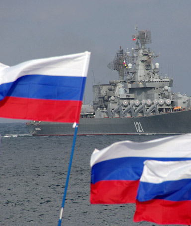 Russia's Black Sea fleet base in the Ukrainian peninsula of Crimea