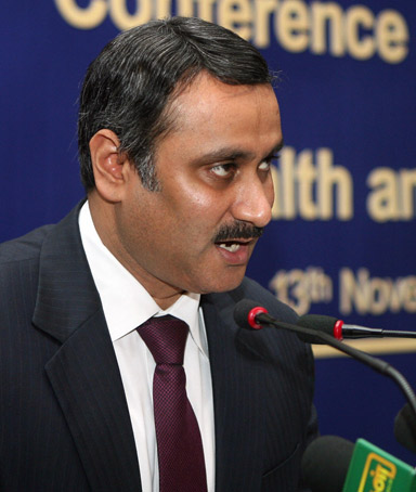 Indian Minister for Health and Family Welfare, Anbumani Ramadoss.
