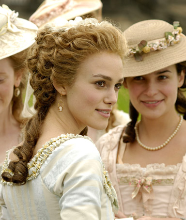 Keira Knightley stars as Georgiana, the Duchess of Devonshire in