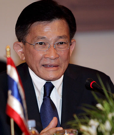 Sompong Amornvivat Thai Deputy Prime Minister and Foreign Minister talks