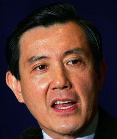Taiwan's Nationalist Party Ma Ying-jeou speaks at the Foreign Correspondents' Club of Japan in Tokyo July 11, 2006.
