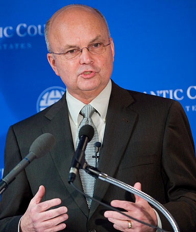 General Michael Hayden, Director of the CIA discusses priorities and challenges for the US intelligence community in Washington, DC, USA on 13 November 2008