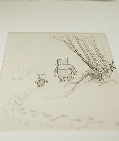 Sotheby record-breaking $2-million sale of a collection of EH Shepard's original drawings from the Winnie the Pooh books by A.A. Milne