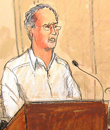 George Nierenberg addresses the court during Bernard Madoff's hearing.