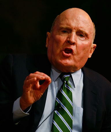 Jack Welch, President, Jack Welch, LLC, speaks during the Global Business Forum on the University of Miami campus January 16, 2009 in Miami, Florida.