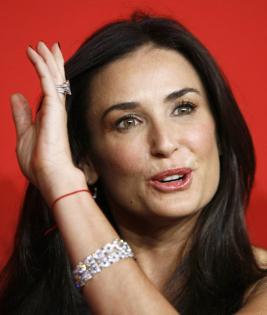 Actress Demi Moore arrives for the Cartier 100th Anniversary in America Celebration event in New York April 30, 2009.