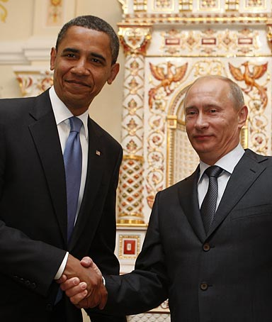 President Obama meets Russian Prime Minister Vladimir Putin in Moscow.