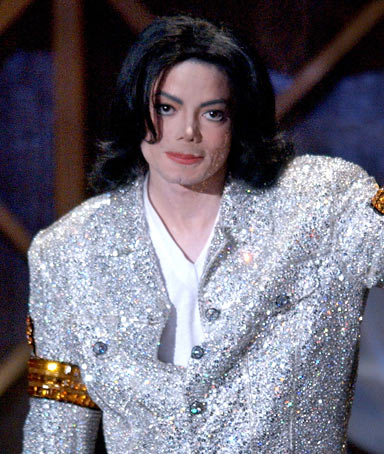 Michael Jackson accepts his Peformer of the Century Award during the 29th Annual American Music Awards in Los Angeles.