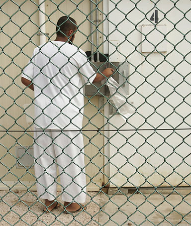 A detainee at Guantanamo