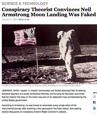 moon-landing story from the 'Onion'